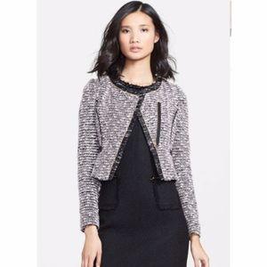 MCGINN Lisette Pink Cropped Tweed Blazer
